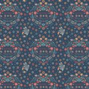 Lewis & Irene Home Sweet Home - 4168 - Homemade Happiness Emblem on Navy - A100.1 - Cotton Fabric
